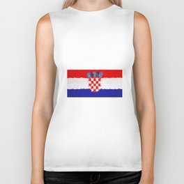 Extruded flag of Croatia Biker Tank