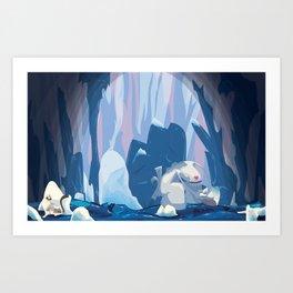 inside iceberg Art Print