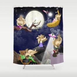 WasteLand Girl Shower Curtain