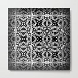Black Slate Gray Pattern Metal Print
