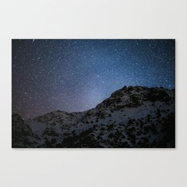 Stars over Grand Atlas mountains, morocco Canvas Print