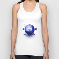 Emoticon Blue Unisex Tank Top