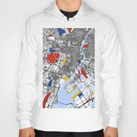 tokyo Hoodies featuring Tokyo by Mondrian Maps