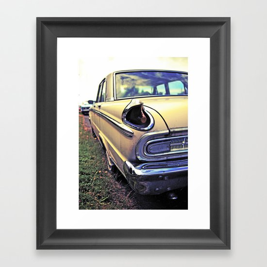 Meteor taillight Framed Art Print