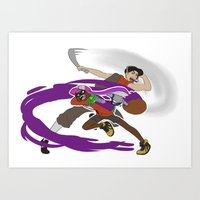 team fortress Art Prints featuring Ink Fortress 2 - Scoutbrush by Hexabeast