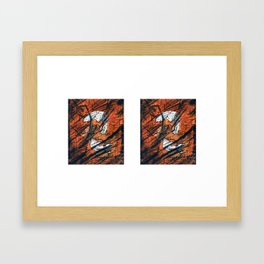 Reverse Frozen Fish Framed Art Print