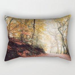 Path through the Autumn Forest Rectangular Pillow