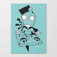 Robot DJ Canvas Print
