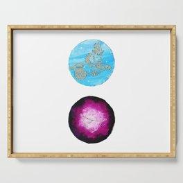Capricorn Zodiac Astrology Painting — Astrology Zodiac Sign Capricorn Print Serving Tray