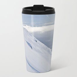 Skiers at Hatcher Pass (2) Travel Mug