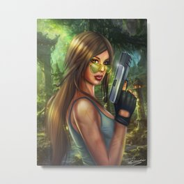 Lara Croft - Tombr raider Metal Print