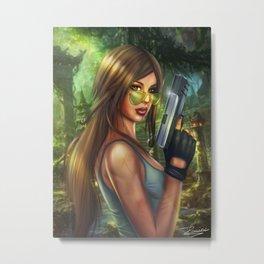 Lara Croft - Tombr raider Metal Print