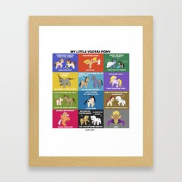 MY LITTLE YGOTAS PONY Framed Art Print