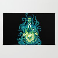 lovecraft Area & Throw Rugs featuring Everybody loves Lovecraft by David Maclennan