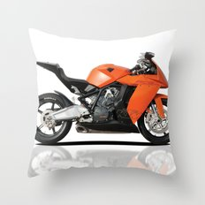 KTM RC8 motorbike Throw Pillow