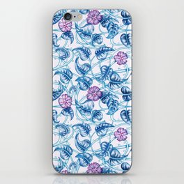 Ipomea Flower_ Morning Glory Floral Pattern iPhone Skin