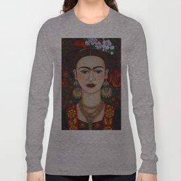 Frida with butterflies Long Sleeve T-shirt
