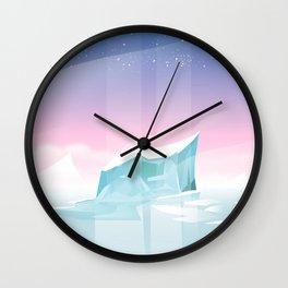 Arctic landscape. Wall Clock