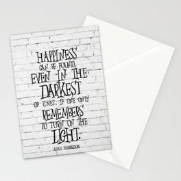 Albus Dumbledore Quote Inspirational Stationery Cards