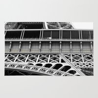 eiffel tower Area & Throw Rugs featuring Eiffel Tower by James Tamim