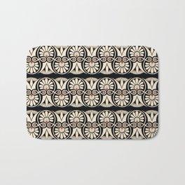Vintage Grecian Geometric Pattern and Design Bath Mat