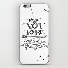 To Be or Not To Be - Hamlet - Shakespeare iPhone & iPod Skin
