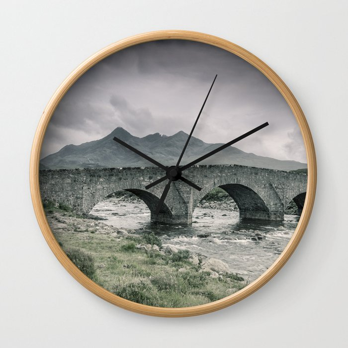 The Bridge and the Cuillin Wall Clock