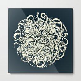 Bird O' Clock Metal Print