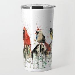 Birds on a Fence - Judgey Birds Travel Mug