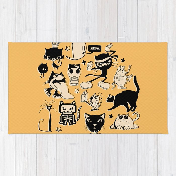 Cat Menagerie Rug By Thirstyfly