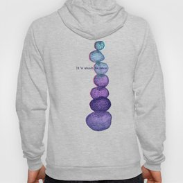 It's About Balance - purple & mint ombre sketch illustration Hoody