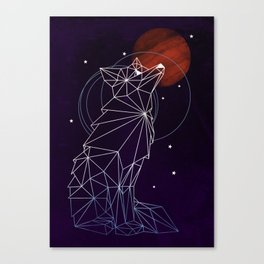 Fox in the Stars Canvas Print