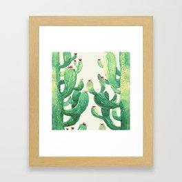 two big cactus Framed Art Print