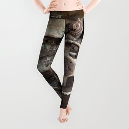 Cotton Gin Motor Belt and Wheels Leggings