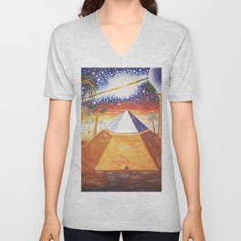 The Cydonia pyramid by the time there was life on Mars Unisex V-Neck