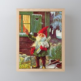 """""""The Presents Have Arrived"""" by Jenny Nystrom Framed Mini Art Print"""