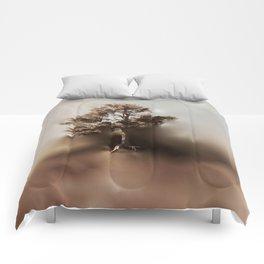 Misty Tree of Life on the Coastal Edge Comforters