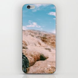mammoth hot springs iPhone Skin