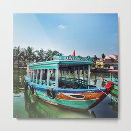 Vietnamese Fishing Boat Metal Print