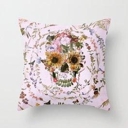 Circle Of Life Skullw Throw Pillow