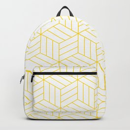 Golden Geometric  Backpack