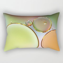 Oil On Water Edged With Gold Rectangular Pillow