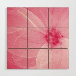 Pink Fairy Blossom Fractal Wood Wall Art