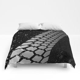Grunge Skid Mark Comforters