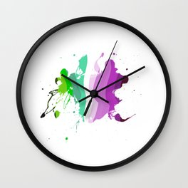 Colorful ink Wall Clock