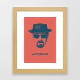 Heisenberg - Breaking Bad Poster Framed Art Print