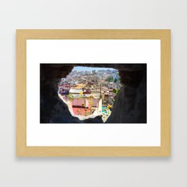 Hole in the Wall in Tangier, Morocco Framed Art Print