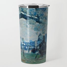 Claude Monet - Arrival Of The Normandy Train, Gare Saint Lazare Travel Mug