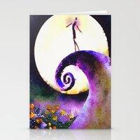 nightmare before christmas Stationery Cards featuring Nightmare Before Christmas by Melanie Tassone Art