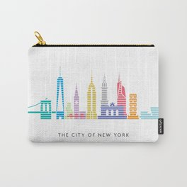 New York Skyline WTC Poster Color Carry-All Pouch